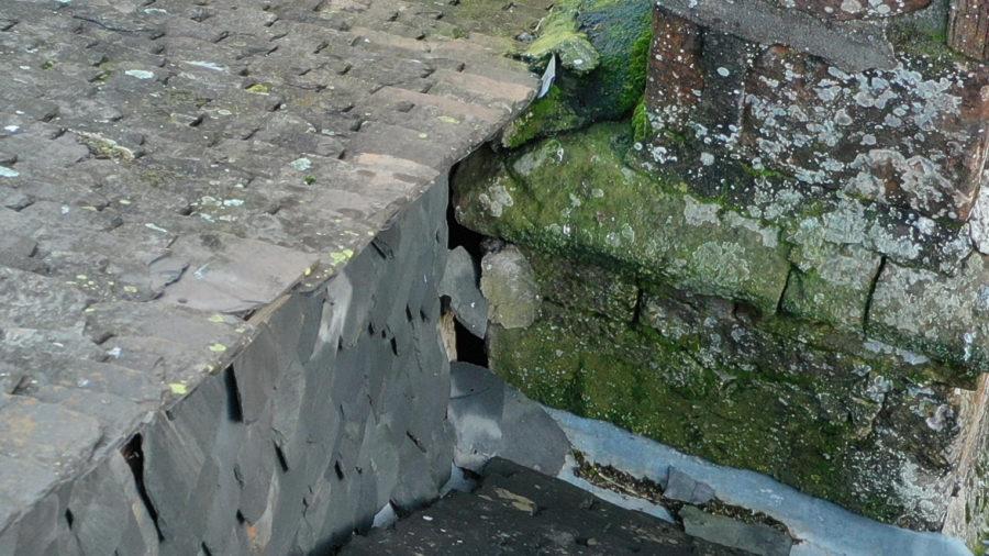 Infiltration eau cheminée zoom